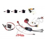 CopterX (CX250-FB-PK-V1) 250 Flybar Electronic Parts Package for CX250SE Flybar Helicopter