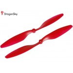 DragonSky (DS-P-1045-R) Multirotor 10*4.5 Clockwise and Counter Clockwise Propeller Set (Red)
