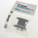 GPM Racing TT028 Alloy Front Damper Plate with Gear Box Silver