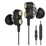 Apple and Android Ear Headphones, Earbuds With Mic ,Dual Drivers Earphones