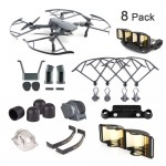 DJI Mavic Pro / Platinum Accessories 8 Pack Combo: Camera Guard with Fixed Lens Protector Cover,Propeller Guard,Landing Gear,Lens Hood,Joystick Protector,Signal Range Extender,Motor Cap,Propeller Clip - NOT DJI Brand