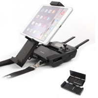 DJI Mavic Air Pro Platinum, Spark Accessories, Remote Controller Device Holder, Foldable 4.7-12.9 Inch Phone Tablet Extended Mount + Neck Strap - NOT DJI Brand