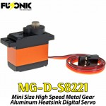 Fusonic (MG-D-S8221) Mini Size High Speed Metal Gear Aluminum Heatsink Digital Servo 14G 1.5KG 0.007sec