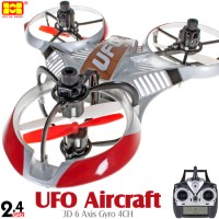 Hua Wei (HW-3220-R-M2) UFO Aircraft 3D 6 Axis Gyro 4CH UFO RTF (Red, Mode2)- 2.4GHz