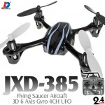 Jin Xing Da (JXD-385-BW-M2) Flying Saucer Aircraft 3D 6 Axis Gyro 4CH UFO RTF (Black White, Mode2) - 2.4GHz
