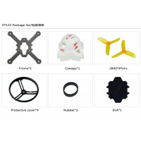 KINGKONG ET125 Carbon Fiber Frame Kit Set Racing Drone Spare Parts