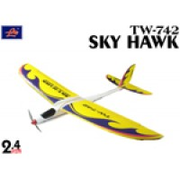 Lanyu (TW-742) 4CH Pitiness Series Sky Hawk ARTF Power Glider (Yellow) - 2.4GHz
