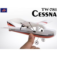 Lanyu (TW-781-A) 2CH Cessna EPO RTF Mini Aeroplane (White with Red Stripe Pattern)