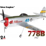 Nine Eagles (NE-R/C-778B) 4CH P47 Ultra-Mirco Cassic RTF Airplane - 2.4GHz