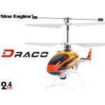 Nine Eagles (NE-R/C-210A-DRACO-O) 4CH DRACO Micro Helicopter RTF (Orange) - 2.4GHz