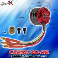 CopterX (CX250-10-02) 3400KV Brushless Motor