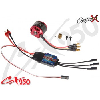 CopterX (CX250-10-07) 3400KV Brushless Motor & 20A V2 Brushless ESC SetCopterX CX 250 Flybarless Parts