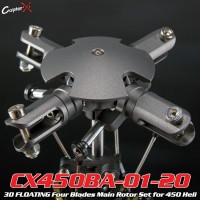 CopterX (CX450BA-01-20) 3D FLOATING Four Blades Main Rotor Set for 450 Heli