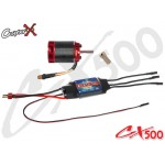 CopterX (CX500-10-10) 500L 1600Kv Brushless Motor with Pinion Gear & 60A ESC with BEC