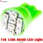 DragonSky (DS-LED-SMD-8-G) T10 1206 8SMD LED Light - Green