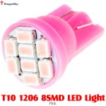 DragonSky (DS-LED-SMD-8-P) T10 1206 8SMD LED Light - Pink