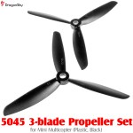 DragonSky (DS-PROP-3-5045-BK) 5045 3-blade Propeller Set for Mini Multicopter (Plastic, Black)