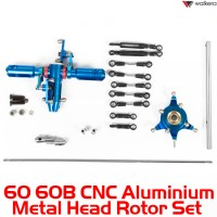 Walkera 60 60B CNC Aluminium Metal Head Rotor Set - Not Assembled