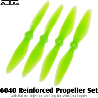 ATG (ATG-6040-P-G) 6040 Reinforced Propeller Set with Balance Injection Molding for Mini Quadcopter (2CW+2CCW, Plastic, Green)