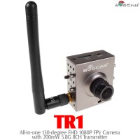 BOSCAM (BOSCAM-TR1) TR1 All-in-one 130-degree FHD 1080P FPV Camera with 200mW 5.8G 8CH Transmitter