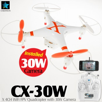 CHEERSON (CO-CX-30W-O) X 6 Axis Gyro 4CH WiFi FPV Quadcopter with 30W Camera RTF (Orange, Mode 2) - 2.4GHz