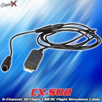 CopterX (CX-S02) 6-Channel 3D Flight USB RC Flight Simulator Cable