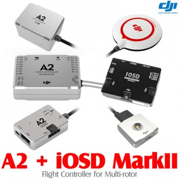 DJI (DJI-A2-IOSD-MARKII) A2 Flight Controller for Multi-rotor with iOSD Mark II FPV Autopilot On Screen Display System