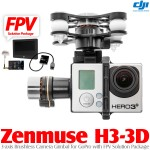 DJI Zenmuse H3-3D Camera Gimbal with FPV Solution Package