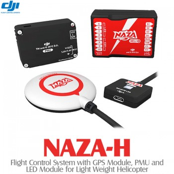 DJI NAZA-H Flight Control System with GPS Module, PMU and LED Module for Helicopter