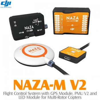 DJI NAZA-M V2 Flight Control System with GPS Module, PMU V2 and LED Module for Multi-Rotor Copters