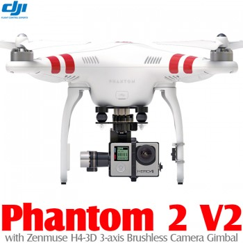 DJI Phantom 2 V2 GPS Drone RTF with Zenmuse H4-3D 3-axis Brushless Camera Gimbal - 2.4GHz