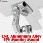 DragonSky (DS-FPV-MM-V-S) CNC Aluminium Alloy FPV Monitor Mount for Transmitter with Vertical Neck Strap Eyelet (Silver)