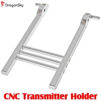 DragonSky (DS-TX-HOLDER) CNC Transmitter Holder (Silver)