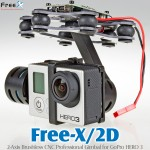 Free X 2-Axis Brushless CNC Professional Gimbal for GoPro HERO 3
