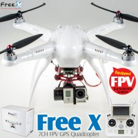 Free X 7CH FPV GPS Quadcopter RTF (White, Mode 2) - 2.4GHz