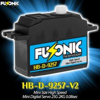 Fusonic (HB-D-9257-V2) Mini Size High Speed Mini Digital Servo 25G 2KG 0.08sec