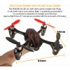 Hubsan (HS-H107C-BR-M1-CASE) X4 LED Version 6 Axis Gyro 4CH Mini Quadcopter with Video Camera Value Pack RTF (Black Red, Mode1) - 2.4GHz