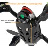 Hubsan (HS-H107C-HD-BG-M2) X4 LED Version 6 Axis Gyro 4CH Mini Quadcopter with HD 720P Video Camera and Rotor Blades Protection Cover RTF (Black Green, Mode2) - 2.4GHz
