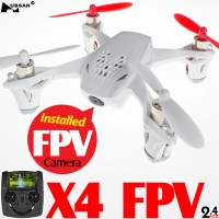 Hubsan (HS-H107D-W-M1) X4 5.8GHz FPV 6 Axis Gyro 4CH Mini Quadcopter with 4.3 Inches LCD Transmitter and Rotor Blades Protection Cover RTF (White, Mode1) - 2.4GHz