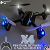 Hubsan (HS-H107L-M1) X4 LED Version 6 Axis Gyro 4CH Mini Quadcopter RTF (Mode1) - 2.4GHz