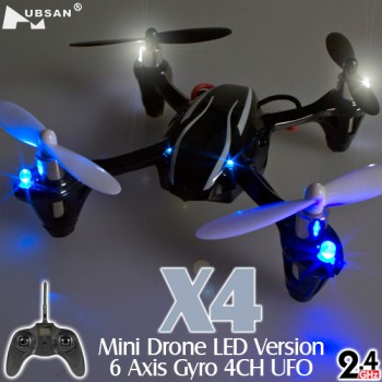 Hubsan (HS-H107L-M2) X4 Mini Drone LED Version 6 Axis Gyro 4CH UFO RTF (Mode2) - 2.4GHzHUBSAN H107 Parts