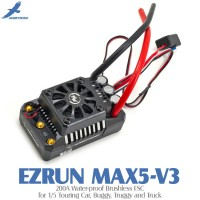 Hobbywing EZRUN MAX5-V3 200A Water-proof Brushless ESC for 1/5 Touring Car, Buggy, Truggy and Truck