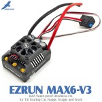 Hobbywing EZRUN MAX6-V3 160A Water-proof Brushless ESC for 1/6 Touring Car, Buggy, Truggy and Truck
