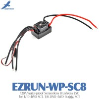 Hobbywing EZRUN-WP-SC8 120A Water-proof Sensorless Brushless ESC for 1/10 4WD SCT, 1/8 2WD 4WD Buggy, SCT