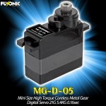 Fusonic (MG-D-05) Mini Size High Torque Coreless Metal Gear Digital Servo 21G 5.4KG 0.16sec