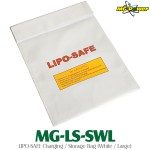 MG-Power (MG-LS-SWL) LIPO-SAFE Charging / Storage Bag (White / Large)