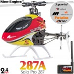 Nine Eagles (NE-R/C-287A-SOLO-PRO-RY-GL) SOLO PRO 287 6CH Flybarless 3D Helicopter with General Link ARTF (Red-Yellow) - 2.4GHz