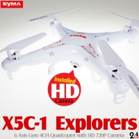 SYMA X5C-1 Explorers Quadcopter with HD 720P Camera (Mode 2)