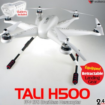 WALKERA (WALKERA-TALI-H500-W-ARTF) TALI H500 GPS Brushless Hexacopter without Transmitter ARTF (White) - 2.4GHz