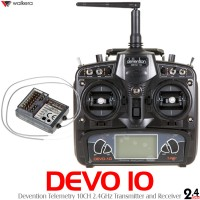 Walkera (WK-DEVO10-TXRX) DEVO 10 Devention Telemetry 2.4 GHz Radio w/ RX1002 Receiver